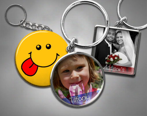 custom keychain picture